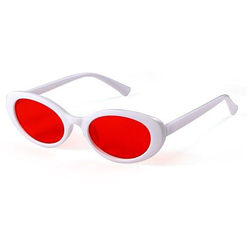 e9465a0414 SORVINO Kurt Cobain Clout Goggles for Women Round Retro 90s Oval Mod  Sunglasses (White