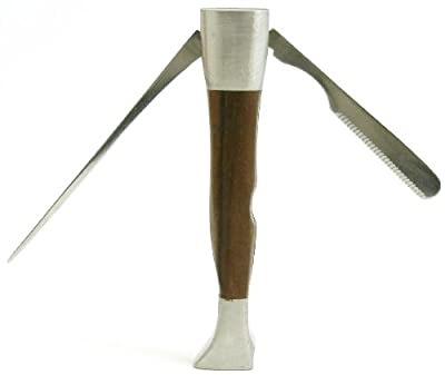 Executive Desktop Pipe Pipe Czech Tool - Tamper, Reamer & Pick 3-in-1 Tool - Oak Wood & Stainless Steel - Heavy Duty by Mr Brog