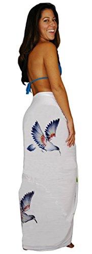 Femme Maillot Bain De 1 À Sarong Robe Motif Pour World Blanc Ixwx8fAq