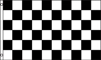Checkered Polyester Flag, 3' x 5' -