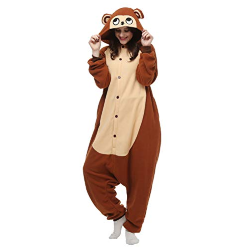Unisex Adult Animal Pajamas Custome Cosplay for Halloween Christmas (Small, Brown Monkey) ()