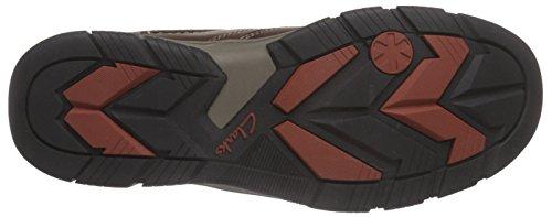 Clarks RampartMid GTX - botas de caño bajo de cuero hombre marrón - Braun (Brown WLined Lea)