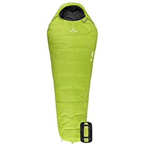 TETON Sports LEEF Lightweight Adult Mummy Sleeping Bag; Great for Hiking, Backpacking and Camping; Free Compression Sack: Green