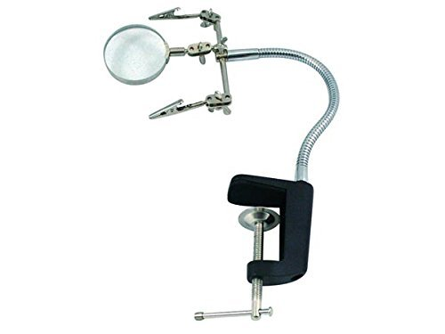 Price comparison product image VELLEMAN VTHH5 HELPING HAND WITH MAGNIFIER - CLAMP BASE