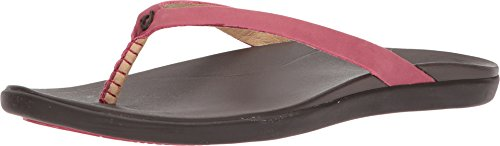 OLUKAI Women's Ho'Opio Leather Dark Red/Dark Java 11 B -