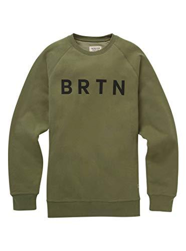 Burton Men's BRTN Crew Sweatshirt, Dusty Olive W19, Small