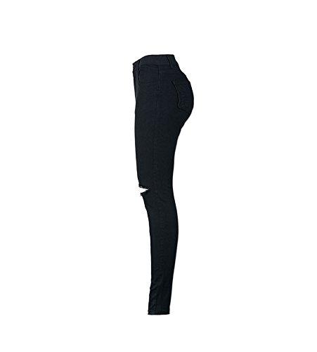 Jeans Jeans Haute Taille Zipper Jean d't Jeans Noir Trous Skinny Skinny Femmes FuweiEncore pour avec Pantalons Hipster Aq411