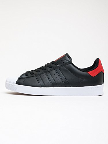 adidas Superstar Vulc ADV Black Scarlet White BLACK SCARLET WHITE
