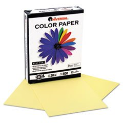 -- Colored Paper, 20lb, 8-1/2 x 11, Canary, 500 Sheets/Ream