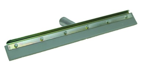 QLT by Marshalltown 16843 24-Inch Straight Notched Squeegee Complete w/Frame with 1/4-Inch Notch