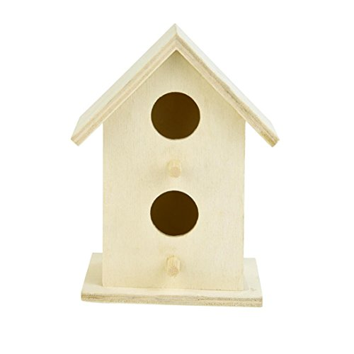 (Yeefant 1Pcs Creative Wall Mounted Nest Bird House Wooden Outdoor Box,0.36x0.25 Ft)