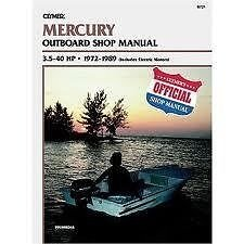 New Service Manual for Mercury Outboard 3.5-40HP (1972-89) B721 ()