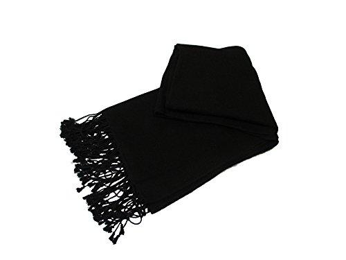 Dal Solidale Commercio Pashmina Nepali E Morbido Bella Black Standard Equo Liscio Nepal Cashmere EPzxwnqF0