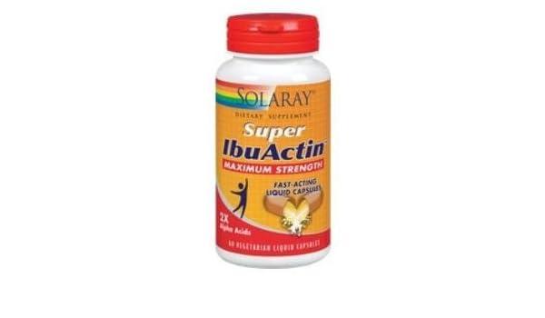 ibuactin super cap solaray 60 capsulas: Amazon.es: Salud y cuidado ...