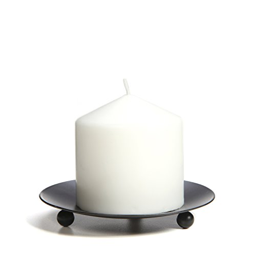 Hosley Set of 6 Black Iron Pillar Candle Holders - 4.75'' Diameter. Ideal for LED Candle Gardens, Spa, and Aromatherapy, Incense Cones, Wedding, Party, Spa, as Pedestal O3 by Hosley (Image #5)