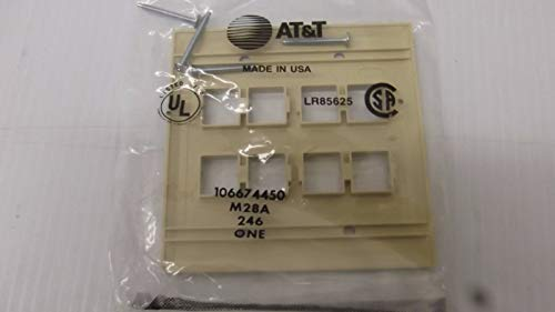 - Perfect at&T 8 Port Faceplate for Modular Network Jacks