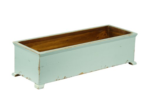 French Planter - Antique Revival Large French Planter, Aqua Finish