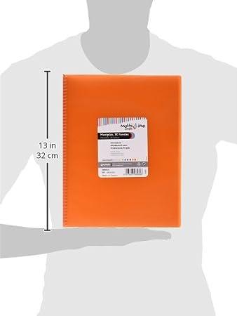 Grafopl/ás 39835352 - Carpeta naranja de 50 fundas A4 - Con espiral