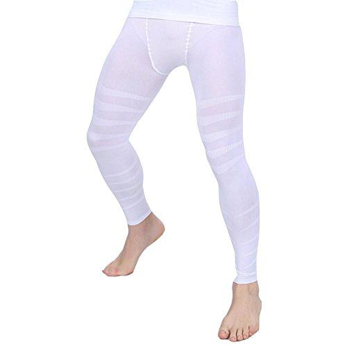Erica Hommes Body Shaper Pantalons Jambe Amincissante Compression Sous-Vêtements Pleine Longueur Sans Couture