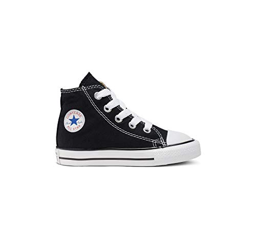 Converse Kid's Chuck Taylor All Star High Top Shoe, Black, 9 Toddler (1-4 Years)