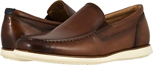 Slip Venetian On - Florsheim Men's Atlantic Moc Toe Venetian Slip-On Cognac Smooth W/White Sole 13 EEE US
