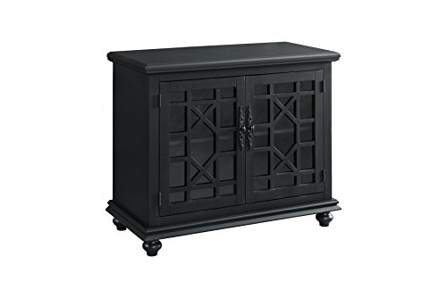 martin svensson home 91032 small spaces tv stand 2 door accent cabinet 38 w x 32. Black Bedroom Furniture Sets. Home Design Ideas