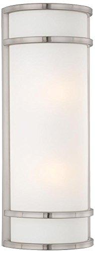 Minka Lavery Outdoor Wall Light 9803-144-PL Bay View Exterior Wall Lantern, 52w Fluorescent, Steel