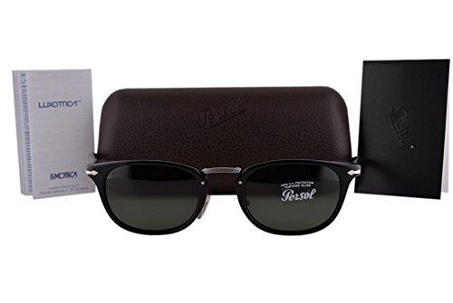 Persol PO3127S Sunglasses Black w/Green Lens 9531 PO3127 For - Po3105s Persol