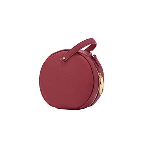 Rossa borsa borsa grande tracolla mini di tracolla a KuanDar Nera a capacità rotonda Borsa Rossa vqxFtH6