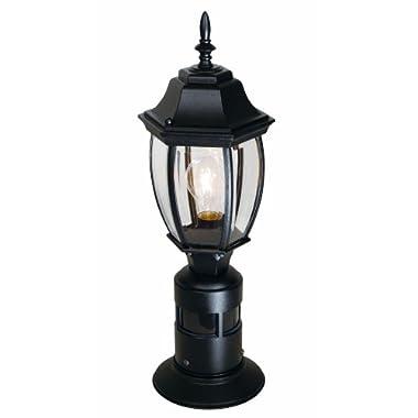 Heath/Zenith SL-4392-BK 360-Degree Motion-Activated Decorative Post Light, Black
