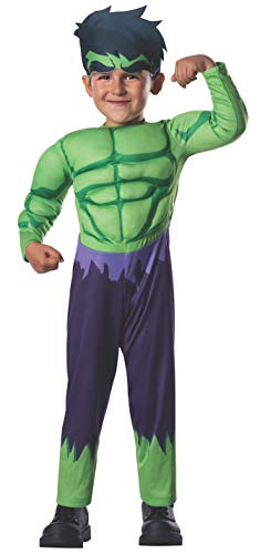 Incredible Hulk Halloween Costumes - Rubie's Marvel Super Hero Adventures Muscle