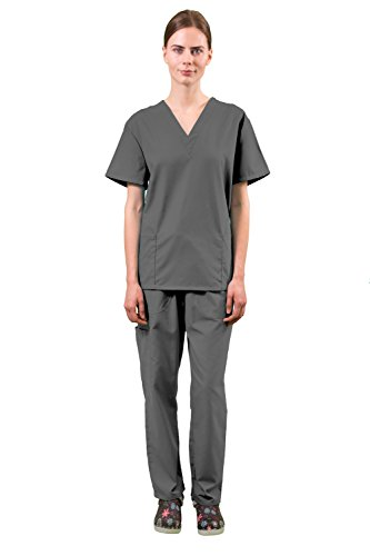 Women's Super Comfy Medical Scrubs Set SCR44808 Dark Grey XLarge