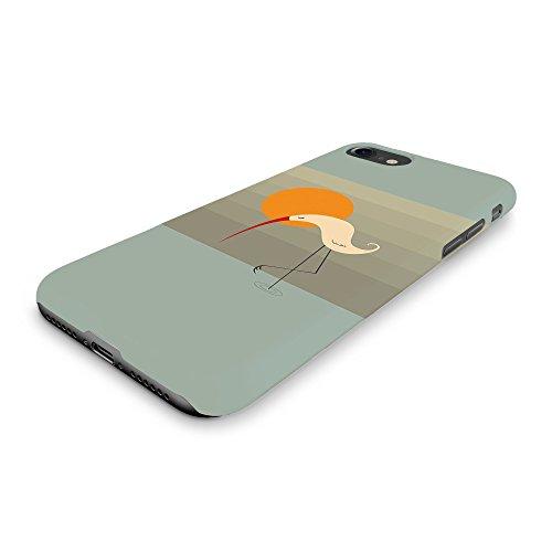 Koveru Back Cover Case for Apple iPhone 7 - Swan meditating on one leg during sunset