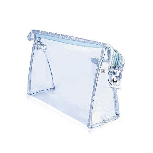 Lizzton Transparent Waterproof Cosmetic Bag, PVC Zippered Toiletry Bag, Clear Airport Airline Travel Organizer Wash Bag