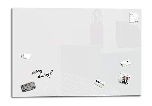 1Marqueur Glas Expert Jaune Memo Board Magn/étique   4Aimants UltraClear Glass /® 1Brosse /à effacer Couleur Pure 130 x 90 cm Smart Glass Board /® Tableau Magnetique en Verre Affichage M/émo Aimant/é