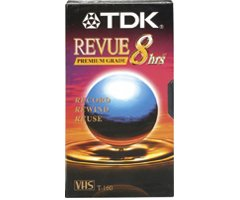 TDK T-160 VHS 8-Hours Videocassette -10 Pack (T-160)