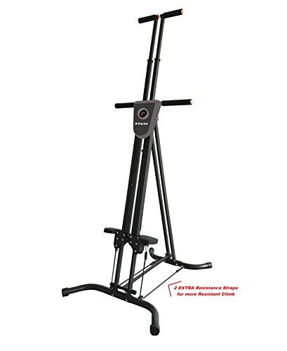 Vertical Climber Cardio Exercise X-Factor with monitor and resistance straps for smooth climbing by X-Factor (Image #1)