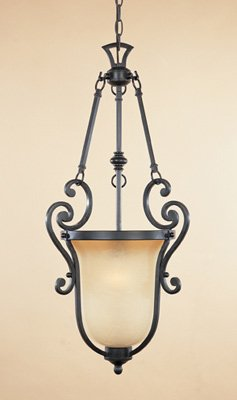 Barcelona Pendant Lighting - Designers Fountain 96151-NI Barcelona 1-Light Foyer, Natural Iron