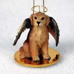 golden retriever angel dog ornament