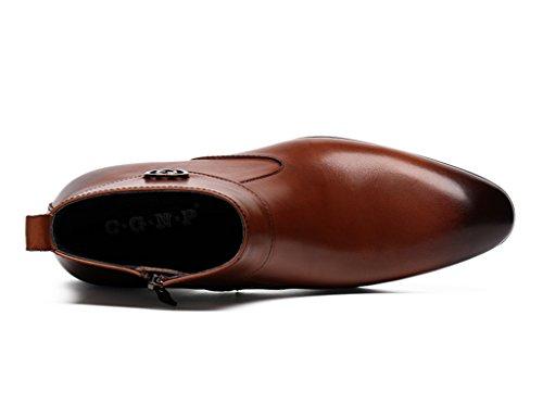 EU da Short Boots Scarpe top high Colore Yellow Scarpe a in 41 da stile dimensioni HWF UK7 uomo Scarpe britannico Martin Pelle brown in lavoro Yellow punta Uomo brown pelle X4zWA