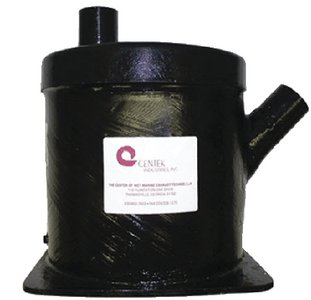 Vernalift Muffler (Vernay/Centek Industries 1500104 1.63 VERNALIFT 45 DEG. ANGLE I VERNALIFT WET MARINE EXHAUST MUFFLER)