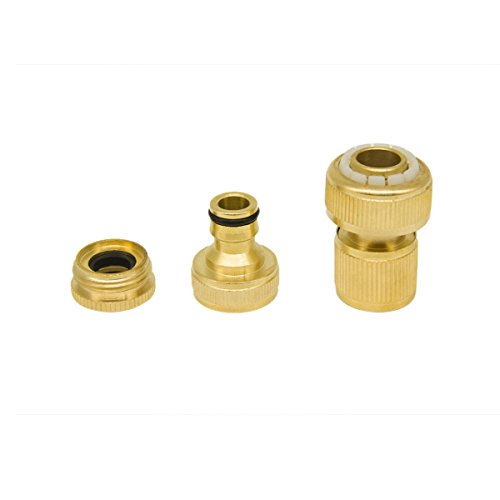 YINUOWEI Quick Connect Brass Faucet Adapter Nipple & Hose