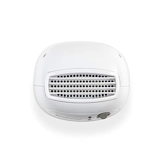 Pro Breeze Electric Mini Dehumidifier, 1200 Cubic Feet (150 sq ft), Compact and Portable for High Humidity in Home, Kitchen, Bedroom, Bathroom, Basement, Caravan, Office, RV, Garage with Auto Shut Off 8 Small & Compact: Lightweight, Compact and Portable, Capable of removing up to 9 ounces of water per day with a 16-ounce water tank capacity. Ideal for rooms up to 1200 cubic feet (150 sq ft). Only works effectively above 15°C / 59°F. Auto Shut-Off: When full the dehumidifier will automatically shut off and the LED light will turn-on indicating the water tank needs draining. Simply empty the water tank and place it back into the dehumidifier. Ultra-Quiet & Energy Efficient: Whisper quiet operation in bedrooms, bathrooms and offices, at an output of 23W per hour, which means only using 0.55kW after running for 24 hours.
