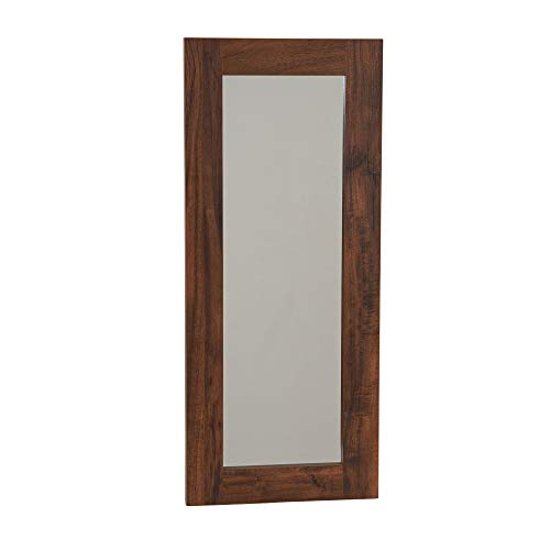 Household Essentials 8118-1 Rectangle Wall Mirror Décor | 29.5 in x 12.6 in | Hickory