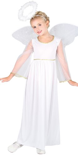 Heavenly Angel with Wings and Halo - Kids Costume 8 - 10 years