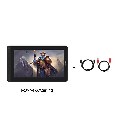HUION Kamvas 13 2020 Graphics Drawing Tablet with Full-Featured USB-C to USB-C Cable PC02