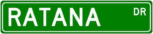 RATANA Family Lastname - Aluminum Street Sign - 6 x 24 Inches
