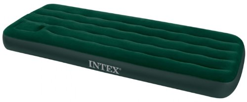 Intex Downy Airbed with Built-in Foot Pump, Twin (Mattress Compact Air)