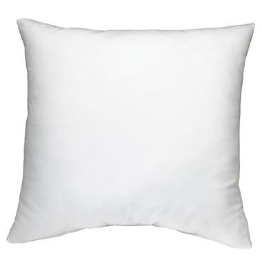 DreamHome Square Poly Pillow Insert, 18  L X 18  W, White