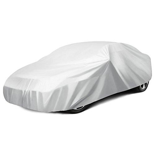 Ohuhu Car Covers for Sedan Cover for Car Windproof UV Protection Universal Sedan Car Covers L (191